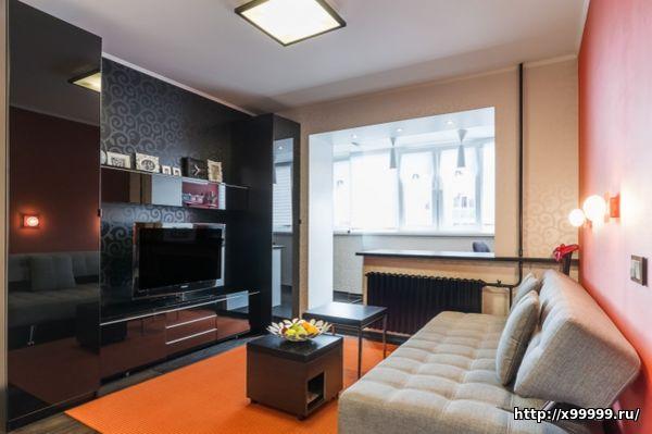 Фото дизайн однокомнатной квартиры 44 кв.м